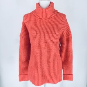 Caslon Coral Rose Chunky Knit Soft Sweater